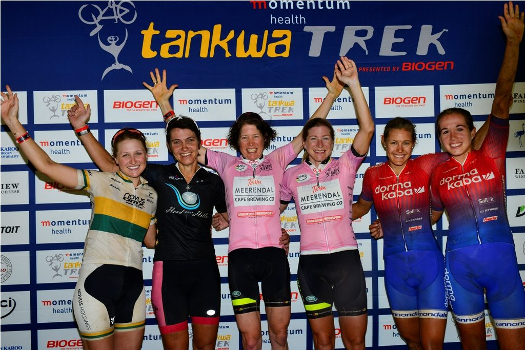 Of the women on the 2017 Momentum Health Tankwa Trek, presented by Biogen, podium 5 have returned for the 2018 race and are joined by a number of other leading contenders. Photo by Zoon Cronje.