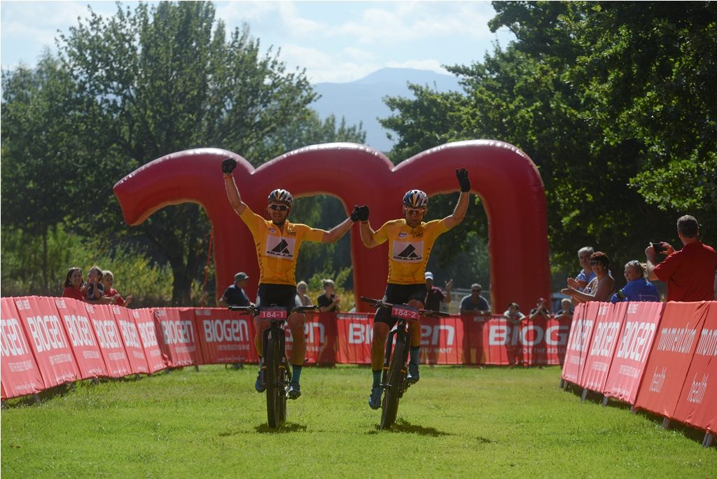 Double defending champions, Karl Platt and Urs Huber of Team Bulls, return in search of a third Momentum Health Tankwa Trek, presented by Biogen, title. Photo by Zoon Cronje.