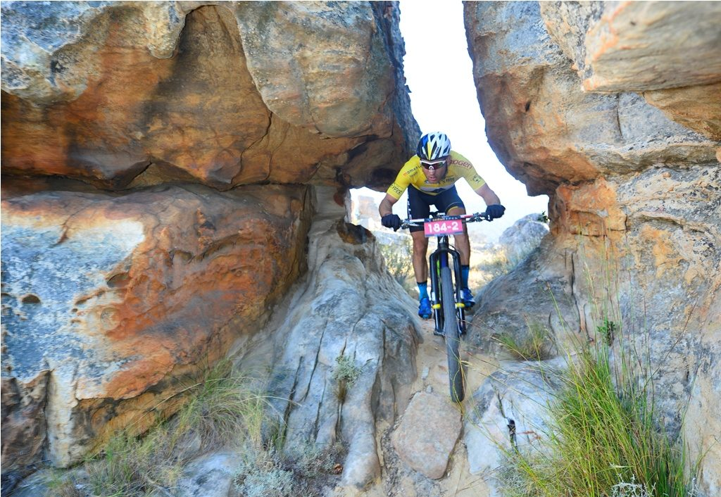 Stage 3 of the Momentum Health Tankwa Trek, presented by Biogen, which weaves its way through the impressive sand stone outcrops of the Houdenbek Farm, will be broadcast live on www.tankwatrek.co.za and on the event's Facebook page. Photo by Zoon Cronje.